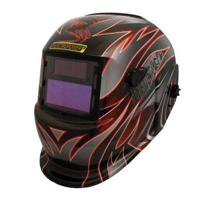 Masque de soudage - cagoule de soudure électronique motif FLAMME
