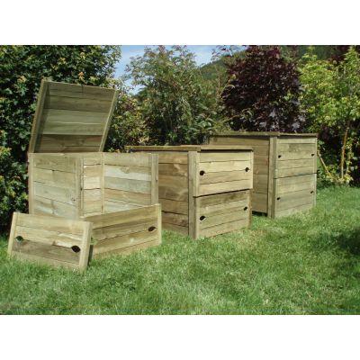 composteur en bois 820 L, fabriqué en France