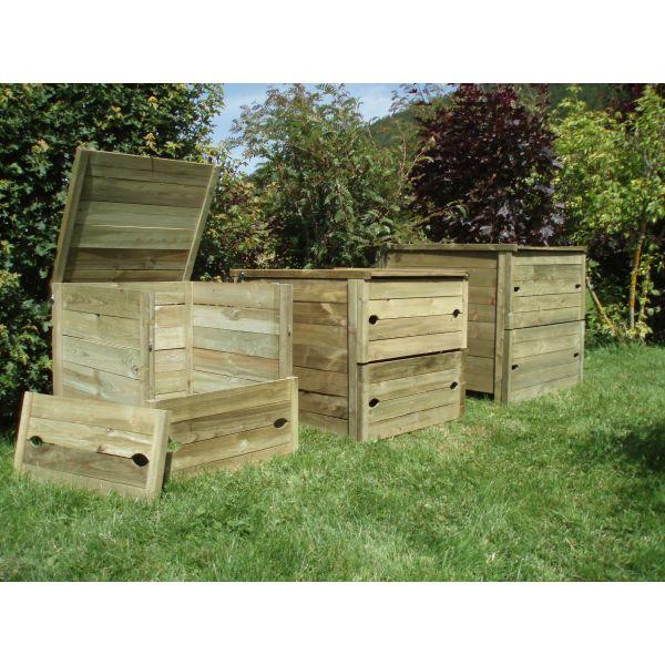 composteur usage collectif 820 l composteuren bois de qualit. Black Bedroom Furniture Sets. Home Design Ideas