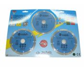 Lot de 3 disques diamant 115 mm - ELEM Technic