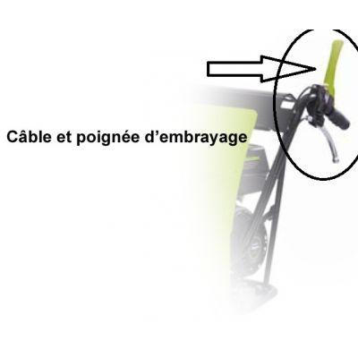 Poignée et câble d'embrayage pour ZI-MD500
