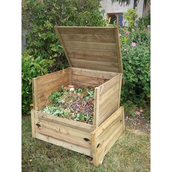 Composteur bois composteur pour particuliers composteur fran ais - Fabriquer un petit composteur ...