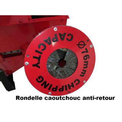 Caoutchouc anti-retour goulotte latérale B6.5