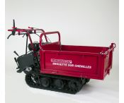 Mini dumper - Brouette motorisée à chenilles 320 kg - 8 vitesses - Essence - ELECTROPOWER