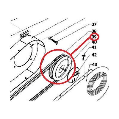 Poulie rotor broyage pour MEP-B15PRO R & SP