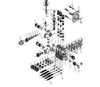 Kit tête de pompe pour NHP13L, clapets et joints
