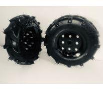 Jeu de 2 roues pour motoculteur 410 mm